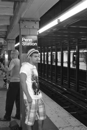 Waiting for the train at Penn Station (Madison Square Garden)
