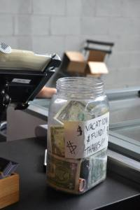 Tip jar I saw on the highline